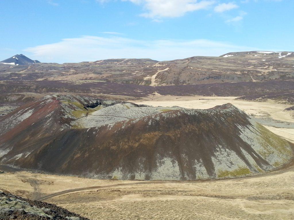 The Grábrók Volcano, Iceland