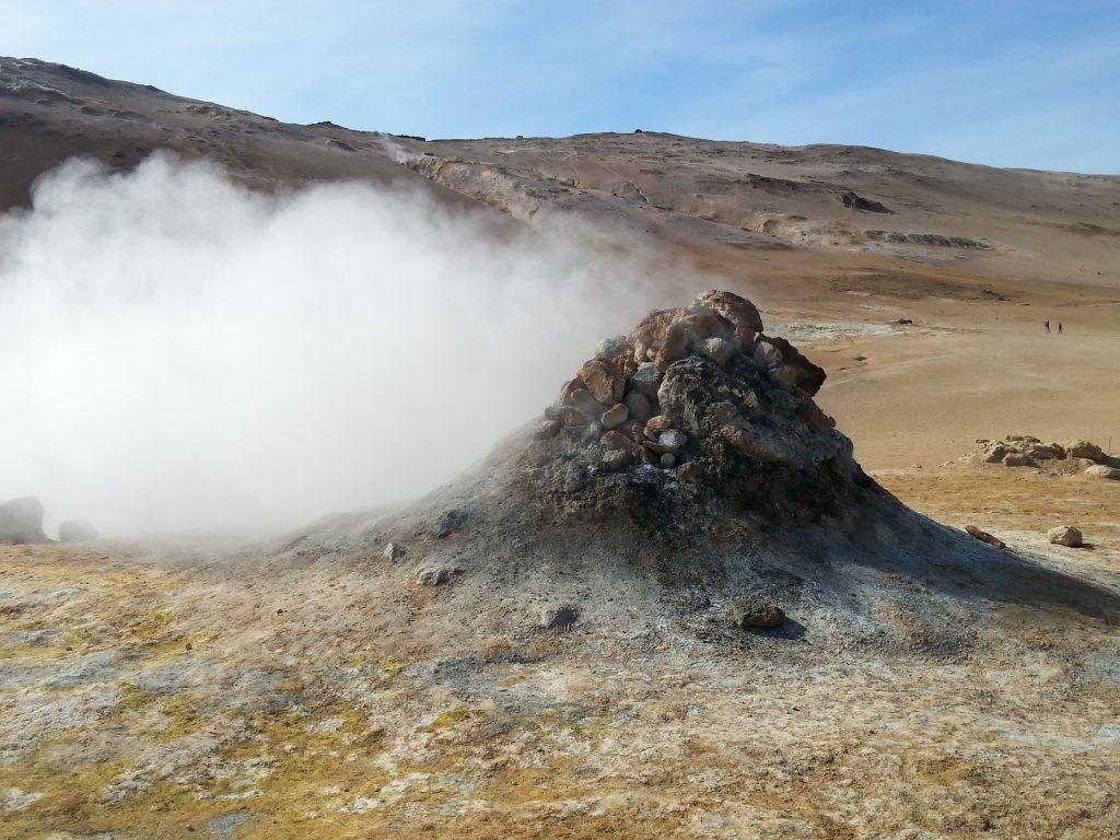 Sulphuric acid steam spring, Hverarond, Iceland