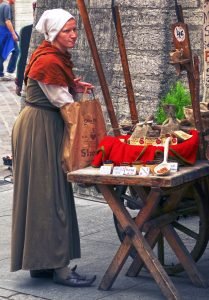 Tallinn - medieval stall seller