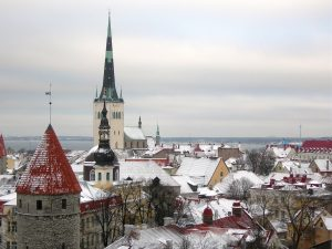 Tallinn - Old Town in snow
